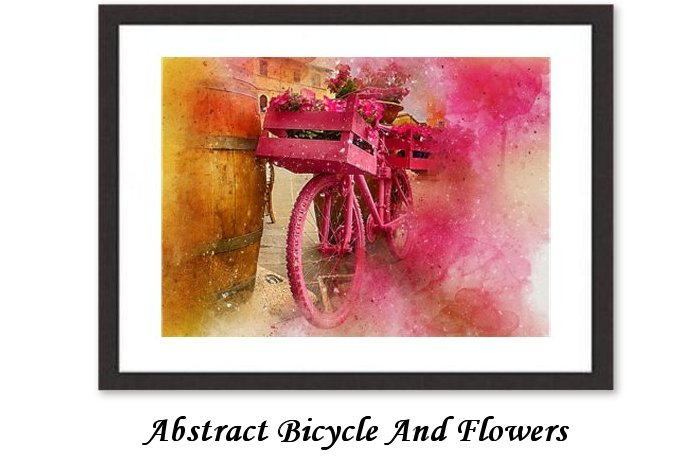Abstracy Bicycle And Flowers