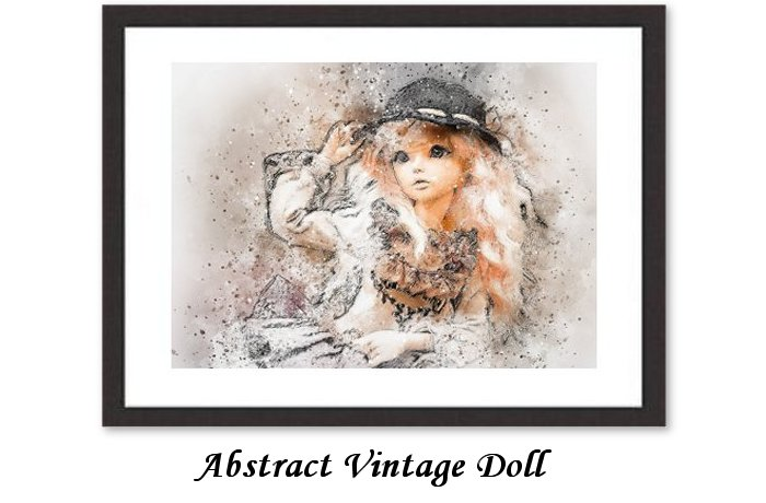Abstract Vintage Doll