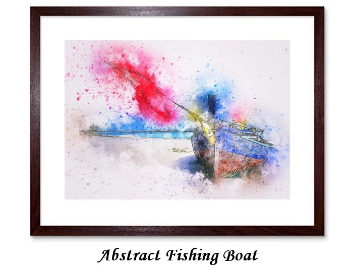 Abstract Fishing Boat