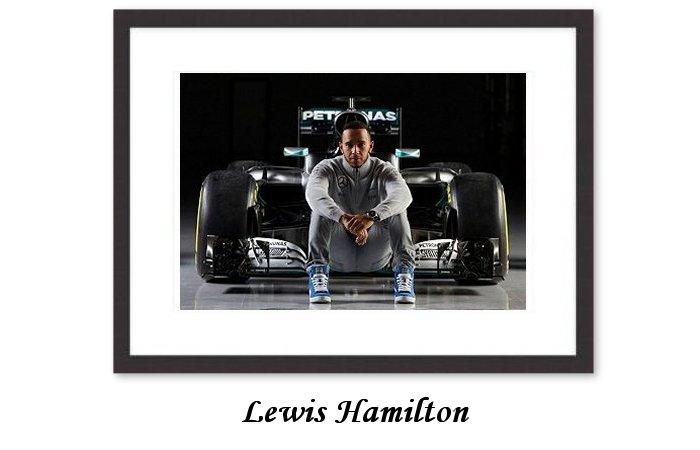LEWIS HAMILTON CANVAS PRINT PHOTO POSTER WALL ART FORMULA 1 VETTEL FERRARI 2017