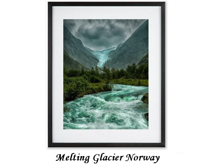 Melting Glacier Norway