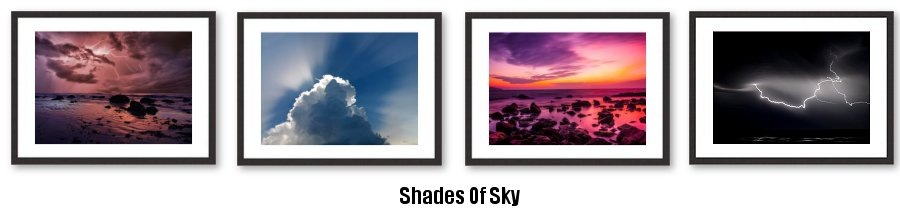 Shades Of Sky Framed Prints