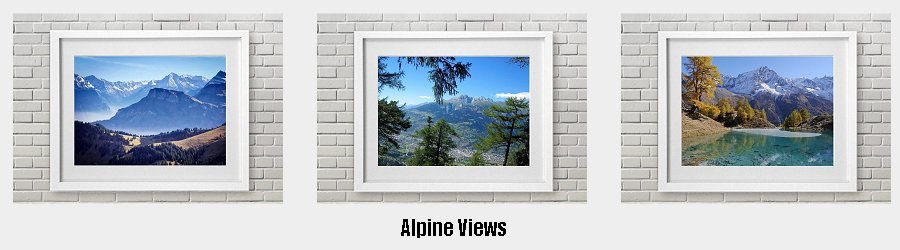 Alpine Views Framed Prints to grace the walls of your home