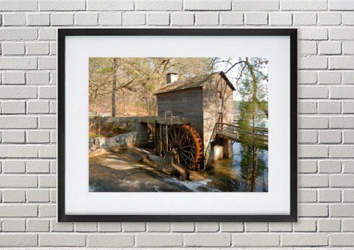 Historic Grist Mill Framed Print
