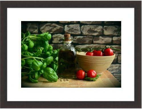 Olive Oil Tomatoes Basil Eat Mediterranean Healthy