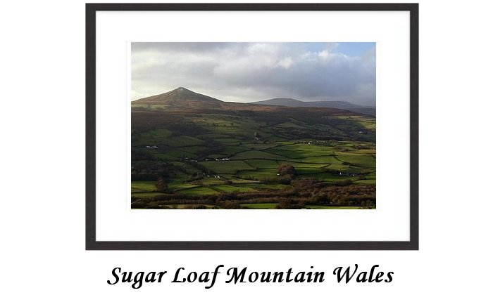 Sugar loaf mountain Wales