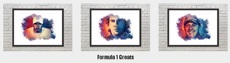 Formula 1 Greats  Framed Prints to grace the walls of your home