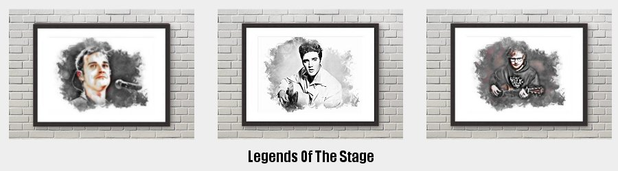 Legends Of The Stage Framed Prints to grace the walls of your home