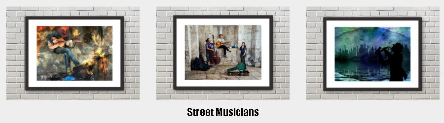 Street Music Framed Prints to grace the walls of your home